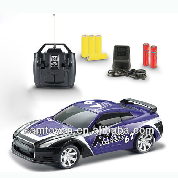 Hot-4ch rc car toy with headlight,flashing wheels