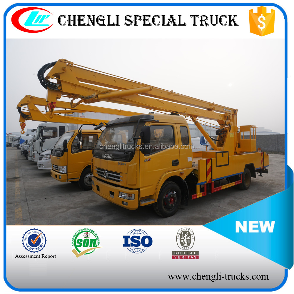 Hot Sale Small dongfeng 4X2 4X4 16meter Overhead Working Truck for Household Garbage