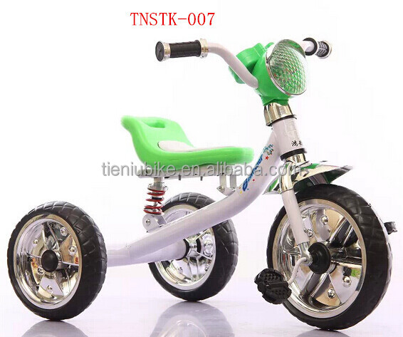 simple baby kid trike tricycle three wheels EVA tyre good quality with beautiful light