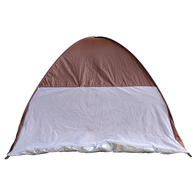 Free Build Brown 1 Person 4 Season Tent For Camping