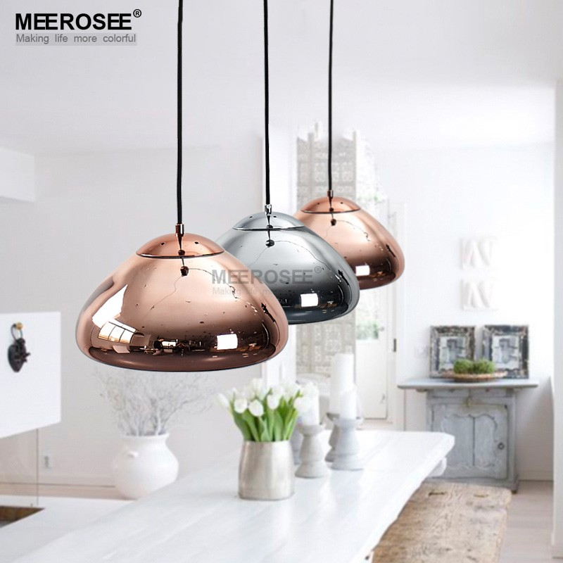Glass Shade Dome Pendant Light Hanging Stained Glass Lamp MD83009A