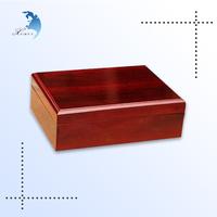 New style custom polished unfinished wooden jewelry box wholesale