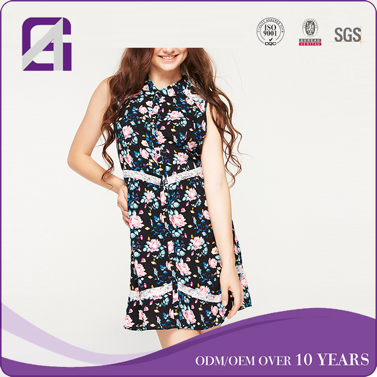AGA0396 Rayon print designer one piece dress western western party dresses latest western dress patterns for ladies