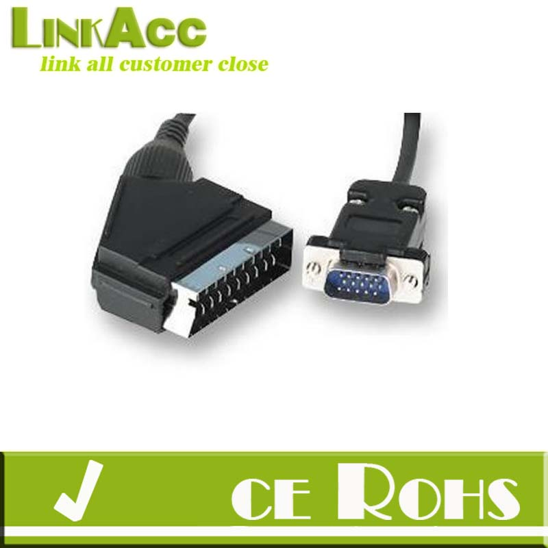 Linkacc-bh1 SCART Cable to SVGA VGA 15 PIN HD PLUG Lead 1.5M