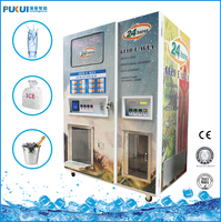 Automatic cube ice vending vendo machine with 900kg /outdoor and indoor ice kiosk for sale bag and bulk ice
