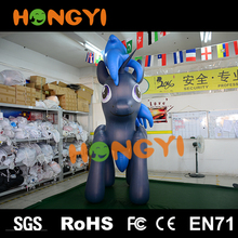 Custom giant cartoon inflatable blue fox for ad decoration environmentally friendly children's toys