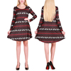 No Moq Loose A-Line Reindeer Printed Christmas Snowflake Women Sexy Girls Dresses