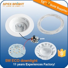 5w plastic round Eco led downlight parts