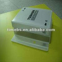 Transparent corrugated packaging plastic box for electronic