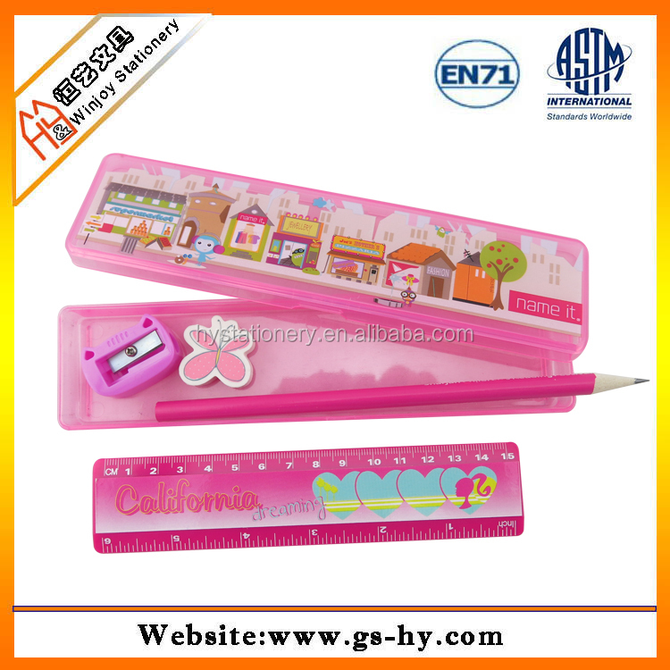4 in 1 stationery set, fancy stationary product for school