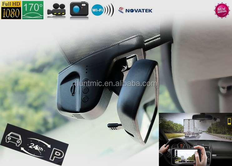 No Screen 1080P Novatek96655+Sony 322 WIFI Hidden Car Dashcam Traffic Recorder 170 View Parking Mode of IOS&Android