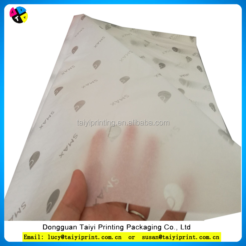 Customised logo wrapping tissue paper for wrapping clothing for Canada
