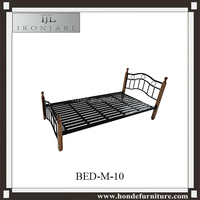 Prince King Single Metal Frame Steel Beds With Wooden Posts Y