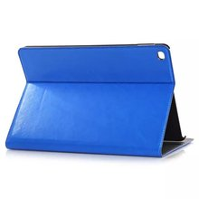 Blue leater case for apple ipad air2 with stand and card slot