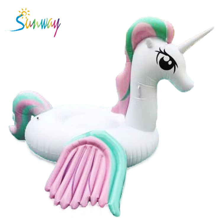 New arrival design pink and blue colors giant inflatable unicorn pool float