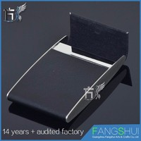 Free sample pu leather name card case cheap for sale