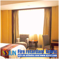 Dyed Fireproof fabrics curtain with better washing fastness