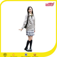 The latest new design japanese school uniform hand sweater knitting machine cardigan sweater for girl