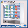 side by side glass door chiller for supremarket