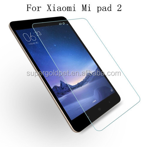 2.5D round edge anti shock tablet tempered glass screen protector for Xiaomi Mi Pad 2