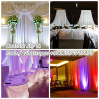 white fiber wedding mandap decoration, pipe and drape for wedding