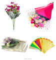 Made in China high quality custom printed bopp flower sleeves