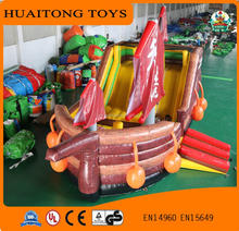 Good quality giant ocean inflatable boat inflatable sailing bouncer castle with slip n slide