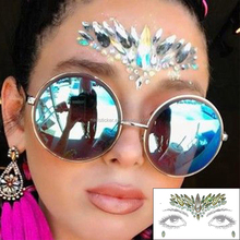 Custom high quality acrylic face makeup eye jewels