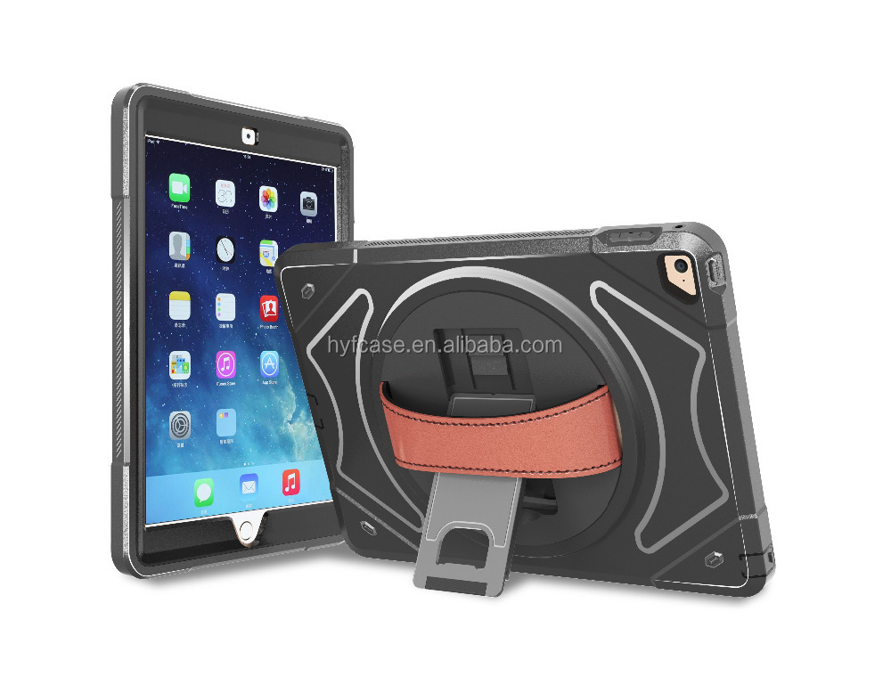 For Ipad mini4 handle shockproof case,Silicone Pc Kickstand Tablet case for ipad mini4 cover