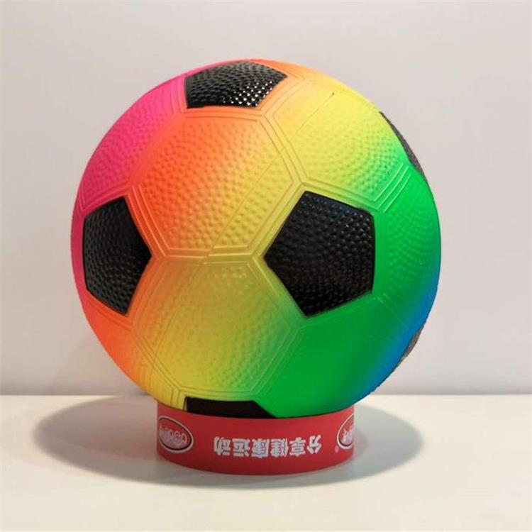 PVC inflatable 8.5inch rainbow soccer ball