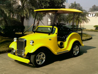 10 years experience electric car manufacture factory supply yellow color,4 wheels, 4 seats classic car