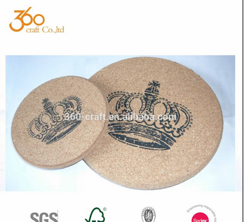 Promotion gift natural coaster wood cork