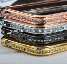 Luxury Bling Diamond Metal Bumper Frame Case Cover for Samsung Galaxy S4 i9500 case