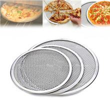 Food grade round stainless steel pizza screen