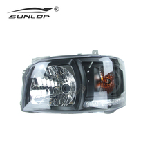 hiace spare car parts crystal hiace head lights black #00469 head lamp for hiace