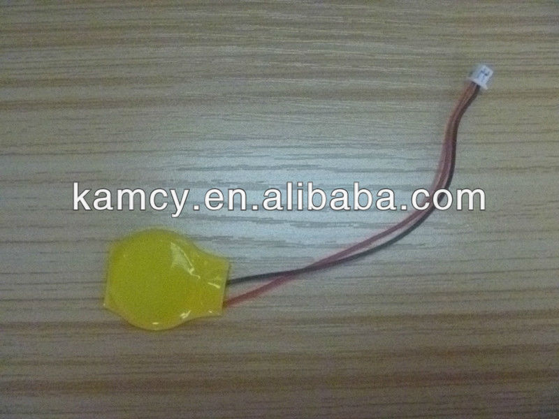 3 volt cr2032 cmos battery with connectors and wires