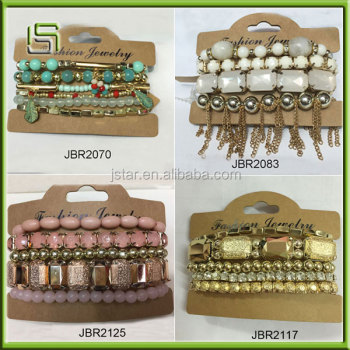 Best selling custom design crystal beaded bracelet