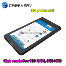 "7"" phone call 3G gsm table pc mtk8312 tablet, touch tablet with dual sim slot 7 inch"
