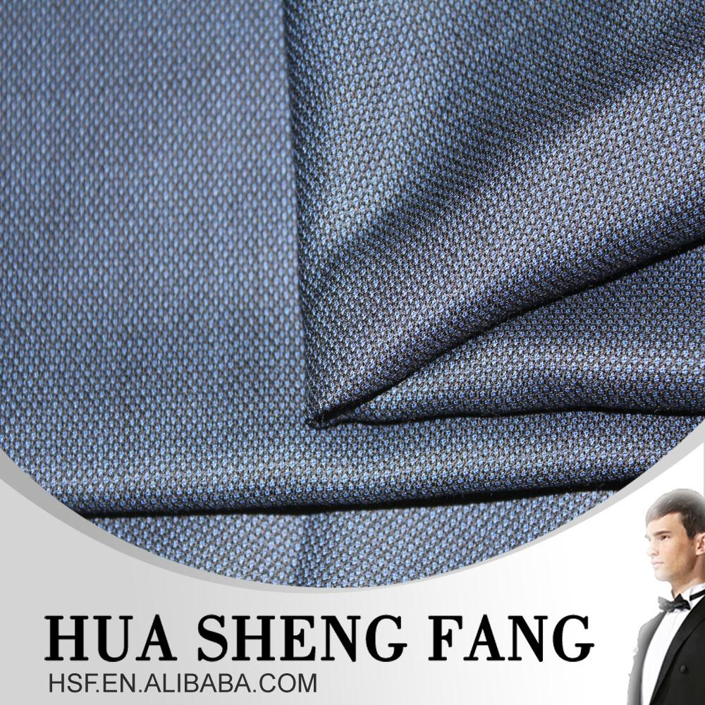 High Quality Bird's Eye 100 Wool Italy Blue Men's Suit Fabrics