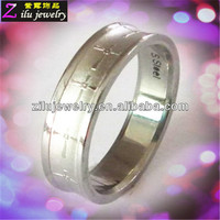 316L custom stainless steel tacori wedding rings