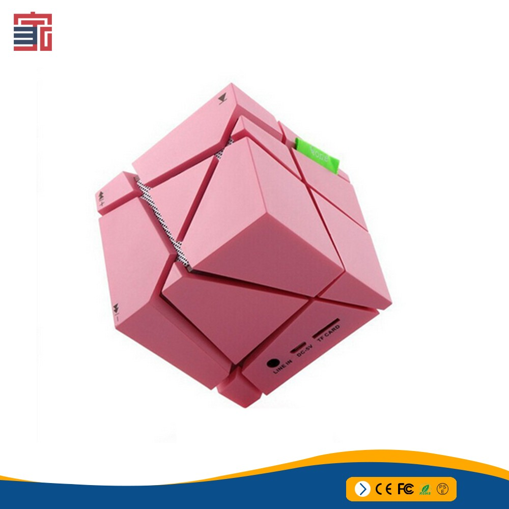 Bluetooth Magic Cube Speaker Colorful mini square bluetooth speaker Wireless Phone Call Big sound Funny Small Speaker