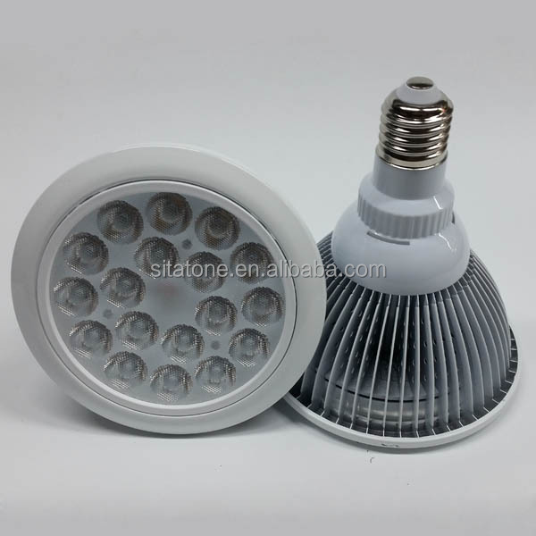 e27 aluminum light weight 18w par38 led spot light