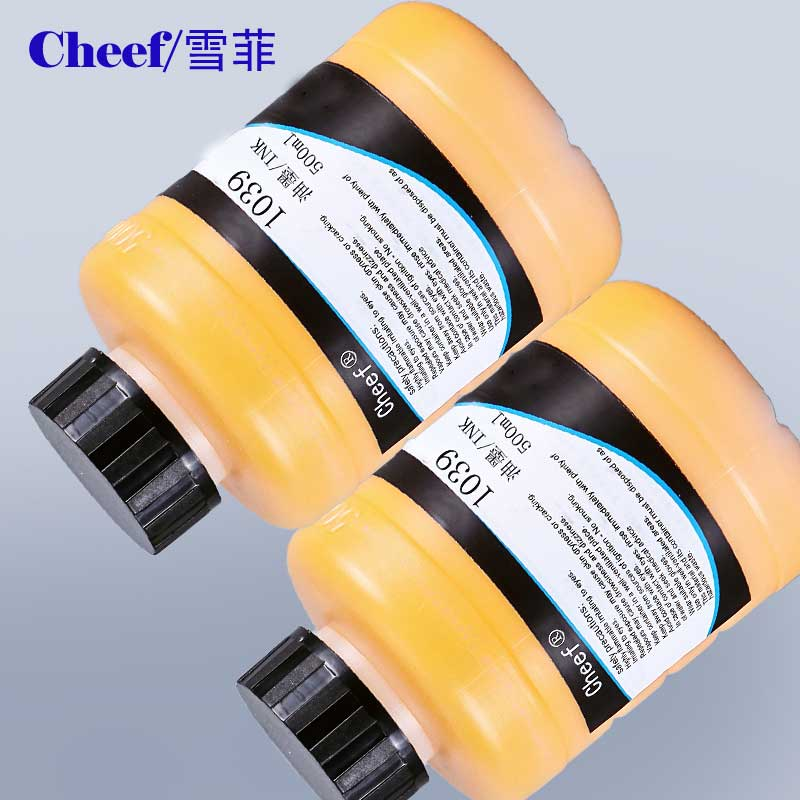 1039 Yellow pigment Ink 500ML for Linx Continous Ink Jet Coding Printer
