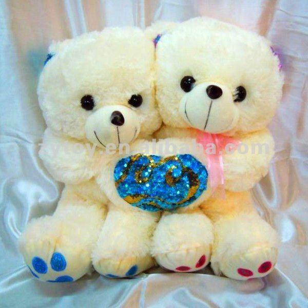 Colorful stuffed valentine plush love bear gift