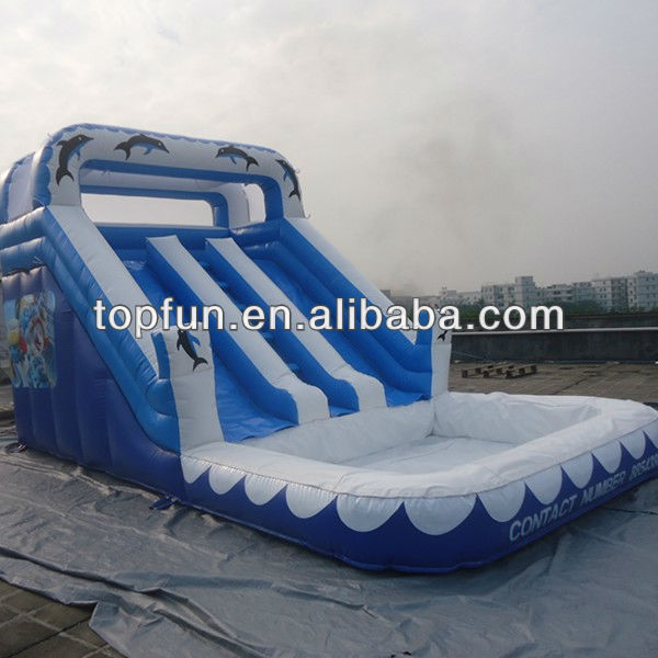 newest attractive inflatable water pool slide
