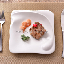 American steak western pasta flat ceramic white household individuality creative breakfast dishes