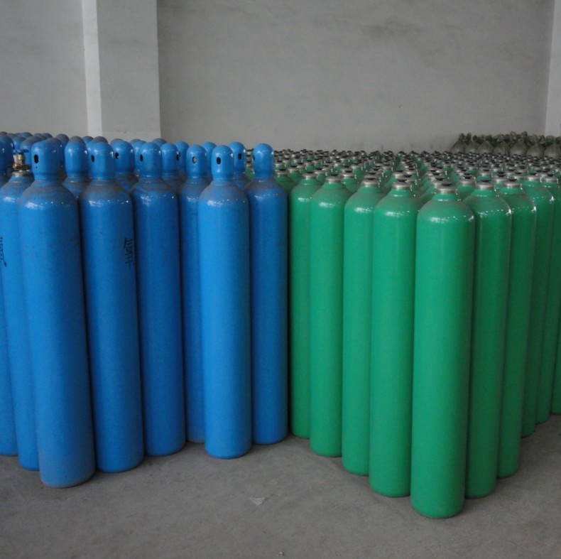 50litre DOT-3AA seamless steel gas cylinder with valve, high quality dot cylinders, empty gas cylinder