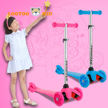 China cheap price 2-10 years children falshing wheel kick scooter / kids mini kick scooter 3 wheel