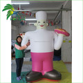 Funny Standing Decoration Inflatable Chef Cartoon Mascot Cook Baker Character Balloon