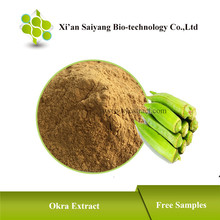 Okra Seed Powder , Okra Extract Powder Suppliers , Organic Dried Okra Powder as Medicine for Long Time Sex